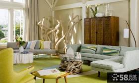 现代简约风格装修图 现代简约沙发背景墙装修风格