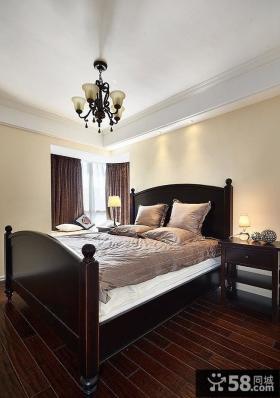美式风格复古卧室设计效果图片