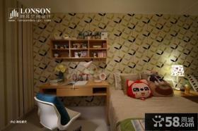 儿童房卧室床头背景墙效果图