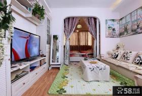 田园风格室内客厅电视背景墙效果图