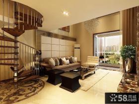 世纪城复式客厅装修效果图大全2012图片