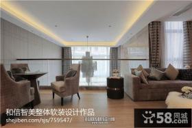 别墅客厅吊顶设计图片欣赏