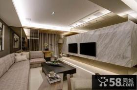 现代时尚风格客厅电视背景墙效果图