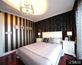 新古典风格卧室墙纸效果图片欣赏