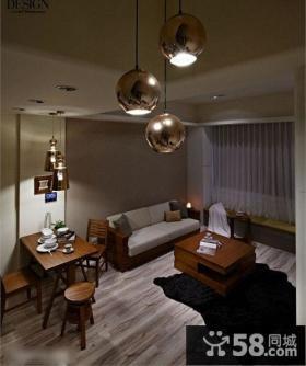 简约风格小户型客厅餐厅一体装修