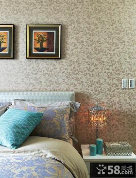 现代简约卧室壁纸设计效果图