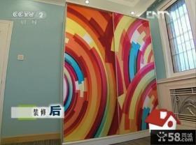 交换空间45平小户型客厅黄色壁纸装修效果图