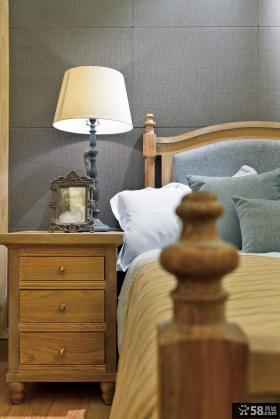 卧室实木床头柜效果图大全