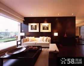 现代中式风格客厅电视背景墙装修图片欣赏