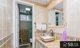复古美式风格卫生间设计装修图片