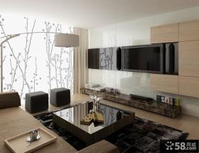 客厅瓷砖电视背景墙装修效果图