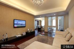 客厅电视机背景墙装修效果图大全