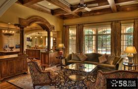 古典欧式风格客厅装修效果图大全2014图片