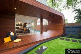 创意实木阳台设计