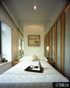 卧室床头镜面背景墙装修效果图欣赏