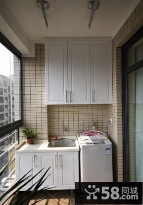 阳台洗衣房装修效果图大全2013