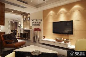 现代简约硅藻泥电视背景墙装修效果图大全