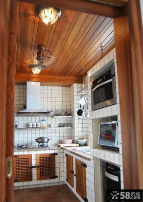 复式豪华别墅厨房图片大全