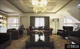 现代欧式风格家装客厅设计效果图