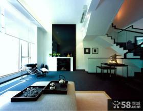 简约风格别墅客厅电视背景墙装修效果图