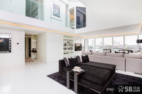 摩登白领复式公寓客厅设计效果图
