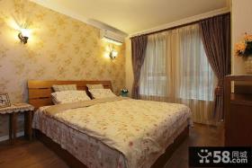 美式设计简单卧室窗帘图欣赏