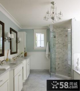 白色简约美式风格卫生间装修效果图大全2012图片