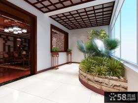新中式客厅阳台装修效果图