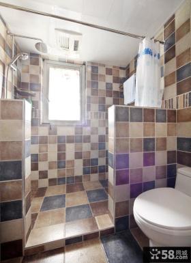 美式风格复式卫生间家装效果图片