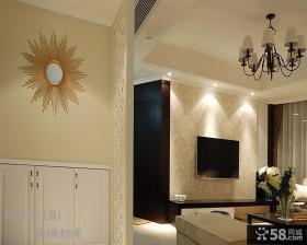 客厅电视背景墙壁纸效果图图片