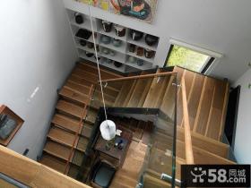 宜家家居风格别墅实木楼梯效果图