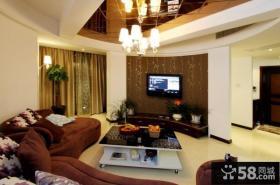 家装时尚客厅电视背景墙效果图大全欣赏