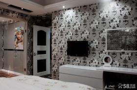 优质现代主卧室电视背景墙装修效果图
