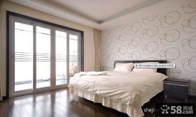 简约风格大卧室壁纸装修效果图