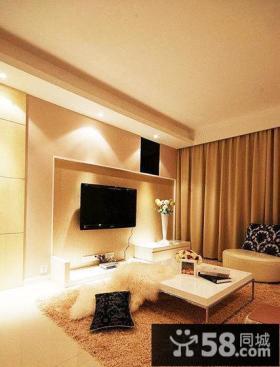 家庭设计装修室内客厅电视背景墙图片