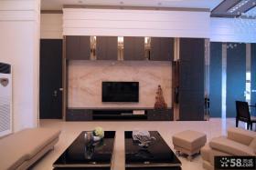 现代别墅电视背景墙
