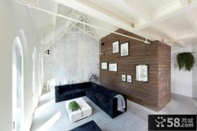 现代简约风格装修别墅客厅效果图