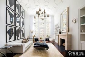 欧美风格复式住宅装修效果图大全2014图片