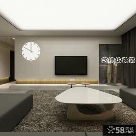 简单客厅电视背景墙装修图片