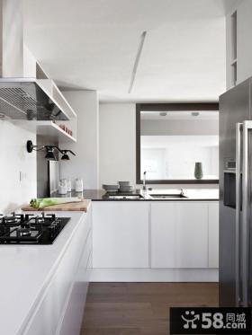 二居室简欧风格厨房橱柜装修效果图大全2014图片