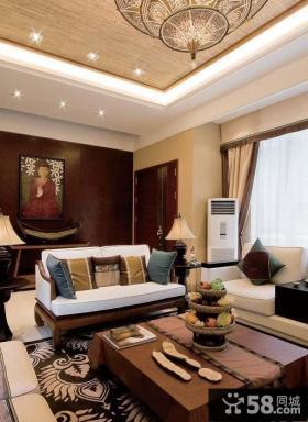 豪华东南亚风格复式装修效果图