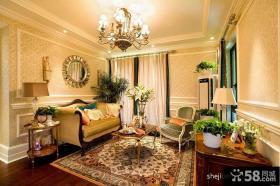 优质欧式风格客厅吊顶装修效果图片欣赏