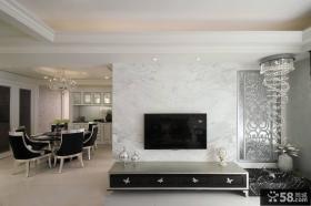 新古典欧式客厅电视背景墙设计效果图