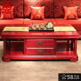 中式古典风格客厅红木茶几图片