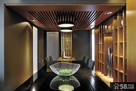 时尚现代餐厅吊顶设计