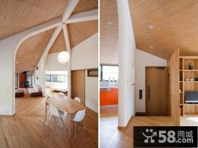 78平米文艺范创意之家餐厅装修效果图欣赏