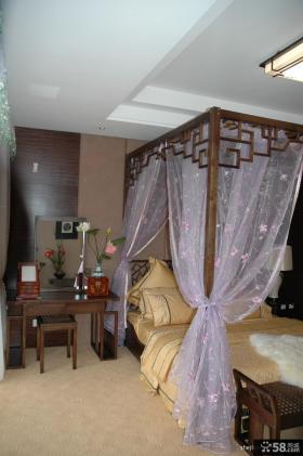 新中式小户型主卧室装修效果图大全2013图片