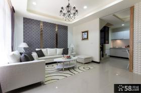 简洁现代客厅室内装饰设计效果图