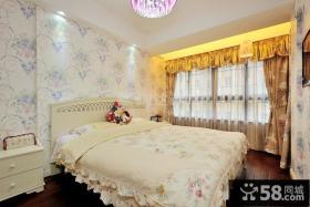 欧式风格主卧室窗帘效果图欣赏