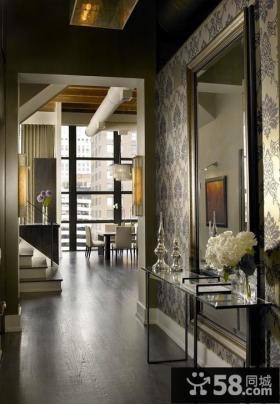 中式古典客厅玄关装修效果图